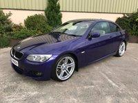 USED 2013 BMW 3 SERIES 2.0 320D M SPORT 2d 181 BHP INDIVIDUAL PAINTWORK - VELVET BLUE, LEATHER, 19' ALLOYS, PARK SENSORS