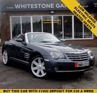 USED 2006 06 CHRYSLER CROSSFIRE 3.2 V6 CONVERTIBLE £245 yr TAX, LOW MILEAGE, ELECTRIC HEATED LEATHER SEATS, AIR CONDITIONING,