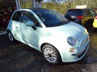 USED 2014 64 FIAT 500 1.2 LOUNGE 3d 69 BHP Low Mileage, Full Service History, Just Serviced by ourselves, One Lady Owner from new, MOT until September 2018 (no advisories), Great on fuel! Only £30 Road Tax!
