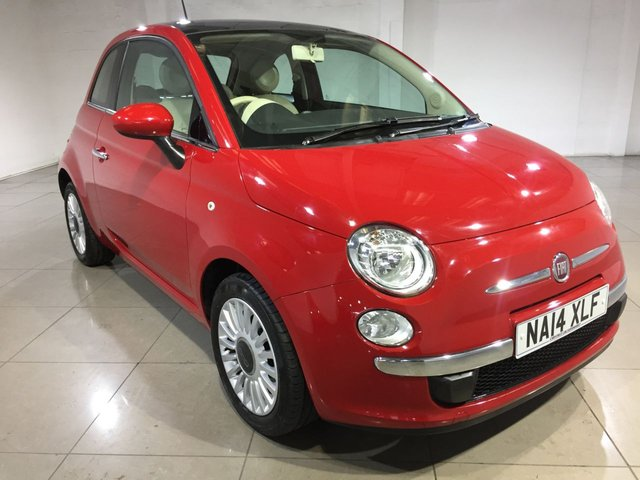 View our 2014 14 FIAT 500 1.2 LOUNGE 3d 69 BHP