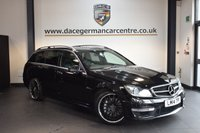USED 2014 14 MERCEDES-BENZ C CLASS 6.2 C63 AMG 5DR AUTO 457 BHP + FULL BLACK LEATHER INTERIOR + FULL MERC SERVICE HISTORY + SATELLITE NAVIGATION + PANORAMIC SUNROOF + BLUETOOTH + HEATED SPORT SEATS + CRUISE CONTROL + PARKING SENSORS + 19 INCH ALLOY WHEELS +