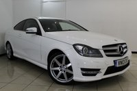 USED 2013 13 MERCEDES-BENZ C CLASS 2.1 C250 CDI BLUEEFFICIENCY AMG SPORT 2DR AUTOMATIC 204 BHP HALF LEATHER SEATS + SAT NAVIGATION* + PARKING SENSOR + BLUETOOTH + CRUISE CONTROL + MULTI FUNCTION WHEEL + 18 INCH ALLOY WHEELS