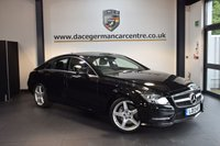 USED 2013 13 MERCEDES-BENZ CLS CLASS 3.0 CLS350 CDI BLUEEFFICIENCY AMG SPORT 4DR AUTO 265 BHP + FULL BLACK LEATHER INTERIOR + 1 OWNER FROM NEW + FULL SERVICE HISTORY + SATELLITE NAVIGATION + BLUETOOTH + DAB RADIO + CRUISE CONTROL + PARKING SENSORS + 19 INCH ALLOY WHEELS +
