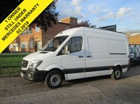 USED 2015 64 MERCEDES-BENZ SPRINTER 2.1 313CDI MWB HIGH ROOF 129 BHP. 1 OWNER. MERC WARRANTY 02/2018 7 SERVICE HISTORY STAMPS. MERC WARRANTY. FINANCE. PX WELCOME