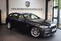 USED 2012 12 BMW 5 SERIES 2.0 520D M SPORT TOURING 5DR AUTO 181 BHP + FULL BEIGE LEATHER INTERIOR + BUSINESS SATELLITE NAVIGATION + BMW SERVICE HISTORY + BLUETOOTH + HEATED SPORT SEATS + VOICE CONTROL + M SPORT PACKAGE + PARKING SENSORS + 18 INCH ALLOY WHEELS +
