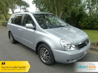 USED 2010 10 KIA SEDONA 2.2 3 CRDI 5d 192 BHP FANTASTIC ONE LADY OWNED TOP OF THE RANGE KIA SEDONA WITH FULL BLACK LEATHER SEATS, CLIMATE CONTROL, CRUISE CONTROL, ELECTRIC SLIDING REAR DOORS, ALLOY WHEELS AND SERVICE HISTORY.