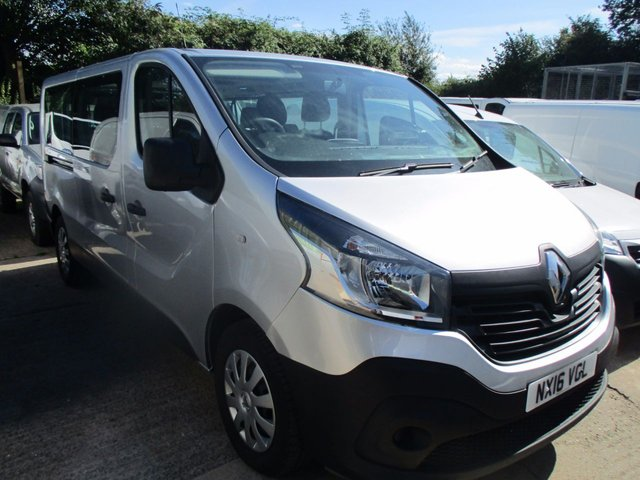 2016 16 RENAULT TRAFIC 1.6 LL29 9 SEAT MINIBUS BUSINESS PACK DCI 5d 125 BHP
