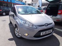 USED 2011 61 FORD FIESTA 1.6 TDCi ECOnetic DPF Titanium 5dr FREE RD TAX FULLY SERVICED
