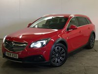USED 2014 14 VAUXHALL INSIGNIA 2.0 COUNTRY TOURER NAV CDTI S/S 5d 160 BHP 4WD SAT NAV LEATHER ONE OWNER FSH  RARE 4WD. SATELLITE NAVIGATION. STUNNING RED WITH FULL BLACK LEATHER TRIM. HEATED SEATS. CRUISE CONTROL. 18 INCH ALLOYS. COLOUR CODED TRIMS. PRIVACY GLASS. PARKING SENSORS. ELECTRIC TAILGATE. BLUETOOTH PREP. AIR CON. R/CD PLAYER. 6 SPEED MANUAL. MFSW. MOT 07/18. ONE OWNER FROM NEW. FULL DEALER SERVICE HISTORY. FCA FINANCE APPROVED DEALER. TEL 01937 849492.