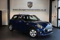 USED 2014 14 MINI HATCH COOPER 1.5 COOPER 3DR PEPPER PACK 134 BHP + 1 OWNER FROM NEW + FULL BMW SERVICE HISTORY + BLUETOOTH + DAB RADIO + RAIN SENSORS + PEPPER PACK + 15 INCH ALLOY WHEELS +