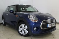 USED 2014 14 MINI HATCH COOPER 1.5 COOPER 3DR PEPPER PACK 134 BHP FULL MINI SERVICE HISTORY + 0% FINANCE AVAILABLE T&C'S APPLY + CLIMATE CONTROL + BLUETOOTH + RADIO/CD + AUXILIARY PORT + ALLOY WHEELS