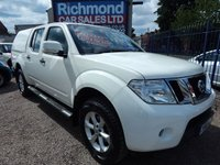 USED 2013 13 NISSAN NAVARA 2.5 DCI ACENTA 4X4 SHR DCB 1d 188 BHP F.S.H. COLOUR CODED CANOPY, GREAT VALUE