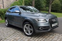 USED 2013 13 AUDI Q5 2.0 TDI QUATTRO S LINE PLUS 5d AUTO 175 BHP MONSOON GREY