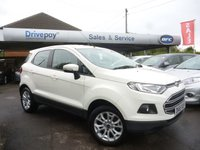 USED 2015 65 FORD ECOSPORT 1.0 ZETEC 5d 124 BHP PLEASE CALL TODAY FOR TEST DRIVE ALL CARS AA INSPECTED