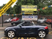USED 2009 59 AUDI TT 1.8 TFSI 2d 160 BHP STUNNING DARK BLUE METALLIC WITH BLACK CLOTH UPHOLSTERY. FANTASTIC SERVICE HISTORY. VERY LOW MILEAGE. AIR CONDITIONING. ALLOY WHEELS. ELECTRIC WINDOWS. REMOTE CENTRAL LOCKING. AMAZING FINANCE DEALS AVAILABLE.