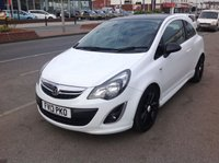 USED 2013 13 VAUXHALL CORSA 1.2 LIMITED EDITION 3d 83 BHP White, limited edition, great value, alloys, superb.