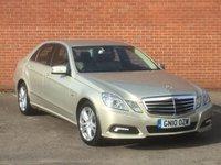 2010 MERCEDES-BENZ E CLASS 2.1 E220 CDI BLUEEFFICIENCY AVANTGARDE 4d AUTO 170 BHP £10995.00