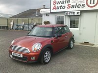 USED 2011 61 MINI HATCH ONE 1.6 ONE 98 BHP £26 PER WEEK OVER 60 MONTHS - SEE FINANCE LINK BELOW