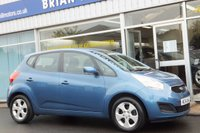 USED 2014 14 KIA VENGA  2  1.4  ECODYNAMICS 5dr ...(ONE LADY OWNER) .AIR CONDITIONING, ALLOY WHEELS, FRONT/REAR ELECTRIC WINDOWS