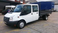 USED 2013 13 FORD TRANSIT 2.2 350 DRW 1d 99 BHP CREW CAB TIPPER 1 OWNER  VERY CLEAN ///////
