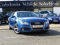 USED 2010 10 AUDI A5 2.0 SPORTBACK TDI S LINE 5d 141 BHP 2 FORMER KEEPERS with SERVICE RECORDS & AUGUST 2018 MOT