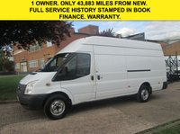 USED 2012 62 FORD TRANSIT 2.2 TDCI LWB JUMBO HIGH ROOF T350 125 BHP. LOW 43K MILES. LOW RATE FINANCE. LOW MILEAGE. PX WELCOME