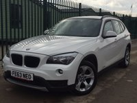 USED 2013 63 BMW X1 2.0 XDRIVE18D SE 5d 141 BHP 4WD PDC ONE OWNER FSH NO FINANCE REPAYMENTS FOR 2 MONTHS STC. 4WD. STUNNING WHITE WITH FULL BLACK CLOTH TRIM. 17 INCH ALLOYS. COLOUR CODED TRIMS. PARKING SENSORS. BLUETOOTH PREP. CLIMATE CONTROL. TRIP COMPUTER. R/CD PLAYER. 6 SPEED MANUAL. MFSW. MOT 09/18. ONE OWNER FROM NEW. FULL DEALER SERVICE HISTORY. FCA FINANCE APPROVED DEALER. TEL 01937 849492.