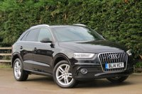 USED 2014 14 AUDI Q3 2.0 TDI QUATTRO S LINE 5d 174 BHP HALF LEATHER, FULL AUDI SERVICE HISTORY, FINANCE AVAILABLE