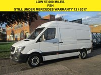 USED 2014 64 MERCEDES-BENZ SPRINTER 2.1 313CDI MWB HIGH ROOF 129 BHP. LOW 57K. 1 OWNER. PX ROOF-RACK. PARKING SENSORS. LOW RATE FINANCE. WARRANTY. PX