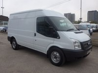 USED 2014 63 FORD TRANSIT 2.2 T350 MWB HI ROOF, 100 BHP, 6 SPEED, LOW MILES, 1 COMPANY OWNER