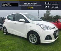USED 2014 14 HYUNDAI I10 1.0 SE 5d white 42000 miles comes fully serviced very clean example