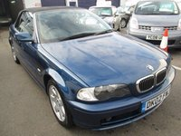 USED 2002 02 BMW 3 SERIES 2.2 320CI 2d 168 BHP CONVERTIBLE