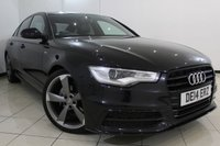 USED 2014 14 AUDI A6 2.0 TDI S LINE BLACK EDITION 4DR 175 BHP SERVICE HISTORY + 0% FINANCE AVAILABLE T&C'S APPLY + LEATHER SEATS + SAT NAVIGATION + PARKING SENSOR + BLUETOOTH + CRUISE CONTROL + MULTI FUNCTION WHEEL + 18 INCH ALLOY WHEELS