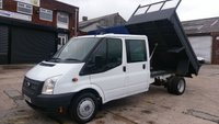 USED 2014 14 FORD TRANSIT 2.2 350 DRW 1d 99 BHP CREW CAB TIPPER 1 OWNER  VERY CLEAN ///////