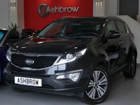 USED 2014 14 KIA SPORTAGE 1.7 CRDI 3 ISG SAT NAV 5d 114 S/S SAT NAV, HEATED FRONT SEATS, FULL BLACK LEATHER, TWIN SUNROOFS, REVERSING CAMERA, BLUETOOTH, CRUISE CONTROL, ELECTRIC FOLDING MIRRORS, AUX & USB INPUTS, LED DAYTIME RUNNING LIGHTS, XENON HEADLIGHTS, 18 INCH ALLOY WHEELS, AUTO LIGHTS & WIPERS, AUTO DIMMING REAR VIEW MIRROR, PRIVACY GLASS, REAR PARKING SENSORS, LEATHER MULTIFUNCTION STEERING WHEEL, DUAL ZONE CLIMATE CONTROL,  1 OWNER FROM NEW, SERVICE HISTORY, VAT QUALIFYING
