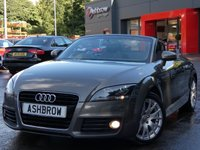 USED 2011 11 AUDI TT ROADSTER 1.8 TFSI 2d 160 BHP UPGRADE HEATED SEATS, UPGRADE LEATHER 3 SPOKE SPORT MULTIFUNCTION STEERING WHEEL, UPGRADE PHONE PREP WITH BLUETOOTH, MANUAL 6 SPEED GEARBOX, FRONT FOG LIGHTS, HEADLAMP WASHERS, 17 INCH 14 SPOKE ALLOYS, ACTIVE REAR SPOILER, ALLOY FILLER CAP, GREY CLOTH INTERIOR SPORT SEATS, ELECTRIC HOOD, ELECTRIC WINDOWS, ELECTRIC HEATED MIRRORS, AIR CONDITIONING, ALUMINIUM PEDALS, CHORUS CD HIFI.  SERVICE HISTORY