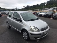 USED 2003 53 TOYOTA YARIS 1.0 T3 VVT-I 3d 64 BHP Silver, Black trim, PAS, clean & tidy through with August 2018 MOT