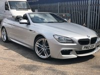 2012 BMW 6 SERIES 3.0 640D M SPORT 2d Convertible 309 BHP £18400.00