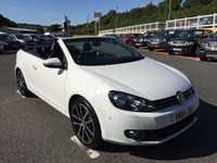 USED 2014 14 VOLKSWAGEN GOLF 2.0 GT TDI BLUEMOTION TECHNOLOGY 2d 139 BHP White, Black leather, Sat Nav, Bluetooth, Media, DAB. Only 22,000 miles