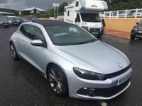USED 2011 61 VOLKSWAGEN SCIROCCO 2.0 GT TDI BLUEMOTION TECHNOLOGY 2d 140 BHP Black leather, panoramic sunroof, climate, heated seats ++