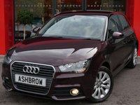 USED 2013 63 AUDI A1 SPORTBACK 1.6 TDI SPORT 5d 105 S/S £0 TAX, 1 OWNER FROM NEW, SHIRAZ RED METALLIC WITH BLACK CONTRAST ROOF, BLUETOOTH W/ AUDIO STREAMING, AUX, A/C, LEATHER MULTIFUNCTION STEERING WHEEL, DIS TRIP COMPUTER W/ DIGITAL SPEED DISPLAY, ELECTRIC WINDOWS X4, SD CARD READER, 3X REAR HEADRESTS, VAT QUALIFYING