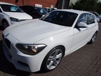 USED 2013 13 BMW 1 SERIES 2.0 118D M SPORT 5d 141 BHP 1 COMPANY OWNER FULL DEALER HISTORY WHITE MSPORT