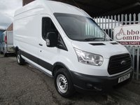 2015 FORD TRANSIT 350 L3 H3 LWB High roof 125 PS *ONE OWNER*42000 MILES* £11995.00