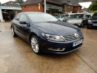 USED 2015 15 VOLKSWAGEN CC 2.0 GT TDI BLUEMOTION TECHNOLOGY 4d 138 BHP FULL HISTORY,LEATHER,SAT NAV,HEATED SEATS,