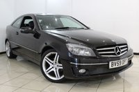USED 2009 59 MERCEDES-BENZ CLC CLASS 1.8 CLC180 KOMPRESSOR SPORT 3DR AUTOMATIC 143 BHP FULL SERVICE HISTORY + LEATHER SEATS + CLIMATE CONTROL + PARKING SENSOR + CRUISE CONTROL + BLUETOOTH + MULTI FUNCTION WHEEL + 18 INCH ALLOY WHEELS