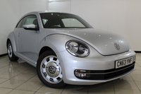 USED 2013 63 VOLKSWAGEN BEETLE 1.4 DESIGN TSI 3DR 158 BHP SERVICE HISTORY + AIR CONDITIONING + BLUETOOTH + MULTI FUNCTION WHEEL + DAB RADIO + 17 INCH ALLOY WHEELS