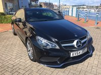 USED 2014 64 MERCEDES-BENZ E CLASS 2.1 E220 CDI AMG SPORT 2d AUTO 170 BHP REAR CAMERA, LED INTELLIGENT LIGHT SYSTEM, COMAND SAT NAV, HEATED SEATS!