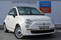 USED 2009 59 FIAT 500 1.2 LOUNGE 3d 69 BHP LOW MILEAGE