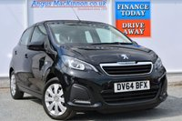 USED 2014 64 PEUGEOT 108 1.0 ACTIVE TOP 5d 68 BHP **ONE OWNER FROM NEW**