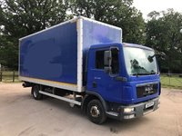 USED 2010 10 MAN TGL 4.6 7.150 4X2 BOX WITH TAIL LIFT 150 BHP MANUAL Sold With New 12 Month Test